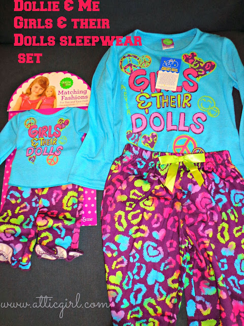 Girls & Dolls Sleepwear Set, Dollie & Me, holiday gifts, american girl bitty twin clothing