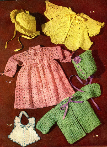 The Vintage Pattern Files 1950s Knitting Crochet Baby Shower Gifts