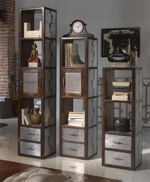 La web de la decoracion y el mueble en la red mueble for Libreria estilo industrial