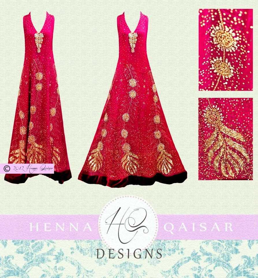 Latest Bridal Dresses 2012 For Woman By HQ Henna Qaiser Henna