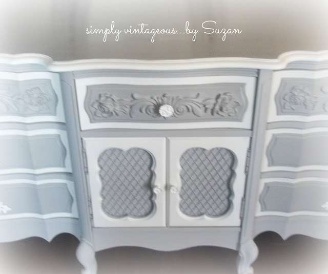 dresser, paris grey, ascp, painted