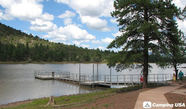 In the forest there is a lake kaibab lake for Fishing in williams az