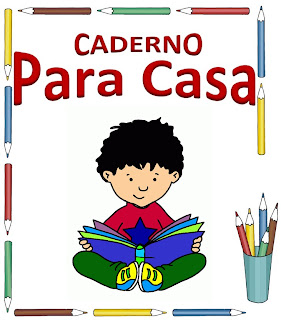 capa para caderno de casa menino sentado