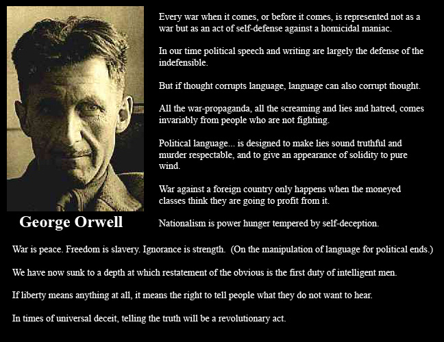 the use of verbal and physical propaganda in the novel animal farm by george orwell Animal farm: the power of propaganda unit grade 11 subject/topic areas: animal farm by george orwell key key terms of the unit propaganda in orwell's novel and.