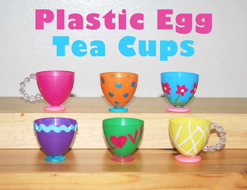 The moody fashionista plastic egg tea cups - Crafts made from plastic cups ...