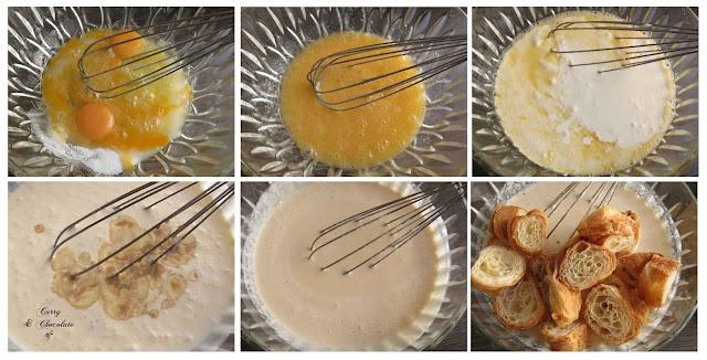Remojando los croissants