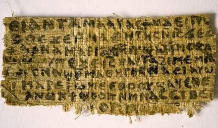 Question, s il en fût, iconoclaste...Mais reposant sur le socle d  une  découverte matérielle. Celle d un fragment de papyrus, de 3,8 sur 7,6 cm  portant 33 ... f7aa44e8315