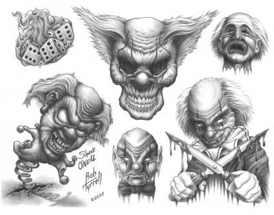 crazy tattoo designs on Evil Clown Tattoosclown Tattoo Rate 1000s | aztec tribal tattoos