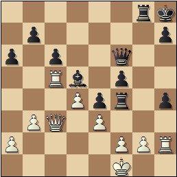 Partida de ajedrez Viladerbó vs. Pomar, Campeonato de España de 1946, posición después de 36…Txf4!