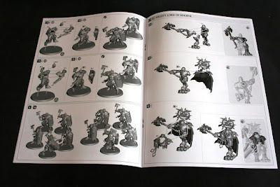 Manual de montaje de las figuras de la caja de Warhammer: Age of Sigmar.