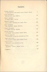 A kötet tartalomjegyzéke