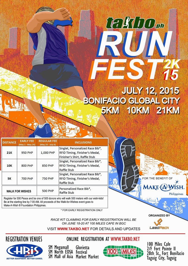 Poster design fee - Celebrate Running And Walk With The Kids At Takbo Ph Runfest 2015