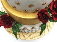 goldene hochzeit wedding torte zuckerrose fondant
