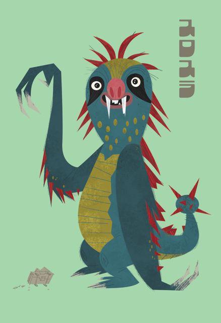 Sloth pop art