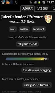 Juice Defender: una app para ahorrar energía