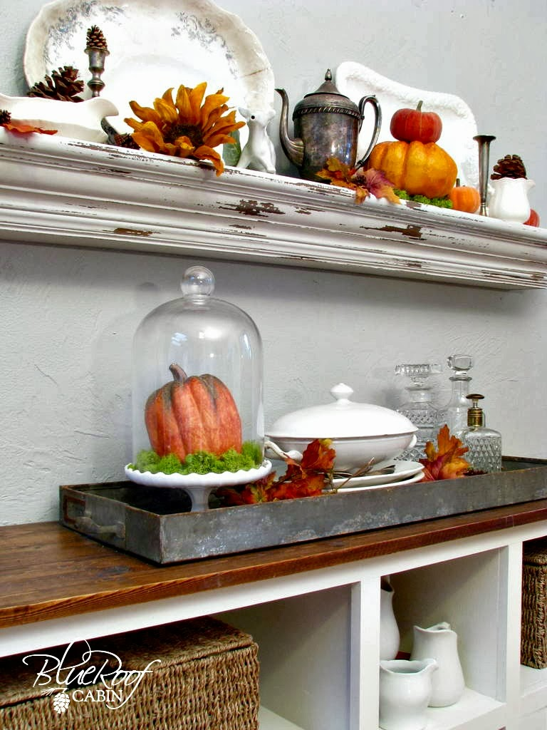 Fall decorating ideas, Using Junk to decorate the mantel