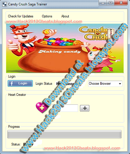 Candy Crush Saga Facebook Hack/Cheat Trainer Download