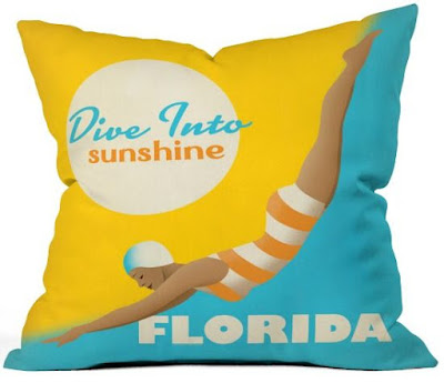 Diver Florida Pillow