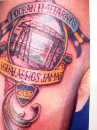 Tatuaje Club Atletico Boca Juniors