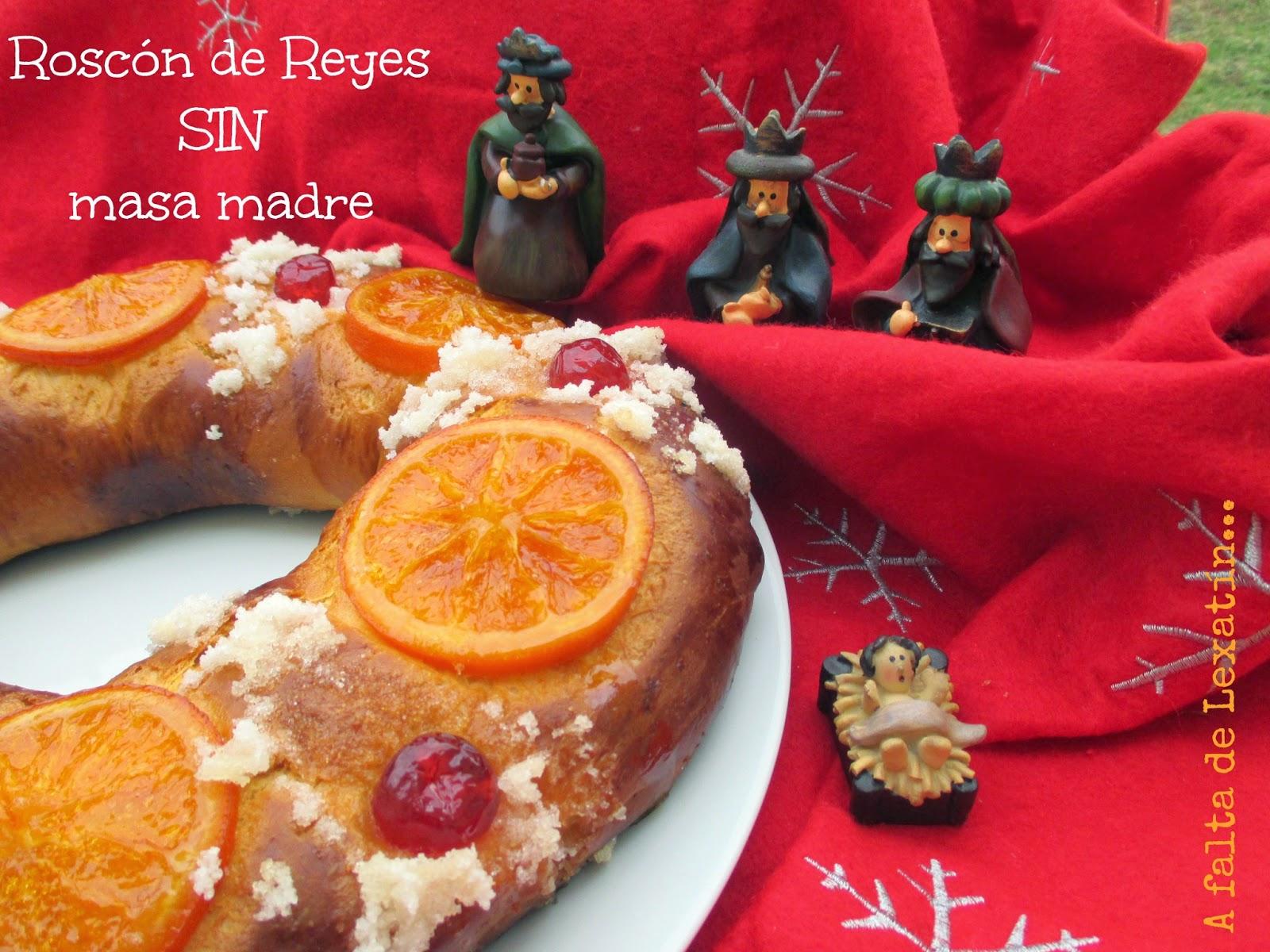 Roscón de Reyes sin masa madre