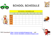 Schedule for school - printable template