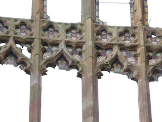 Remains of stained glass