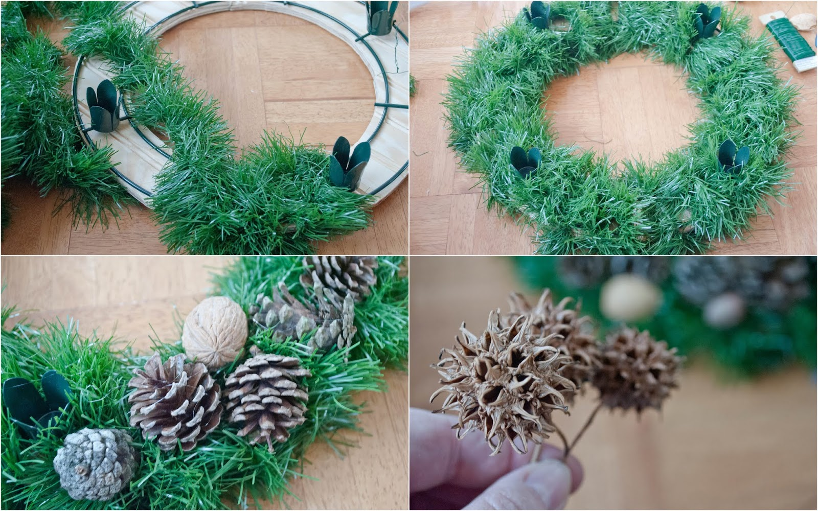My Trash and Treasure: advent wreath diy