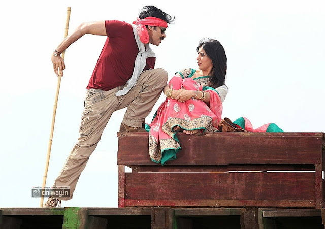 Samantha and Pawan Kalyan in Attarintiki Daredi Movie Stills