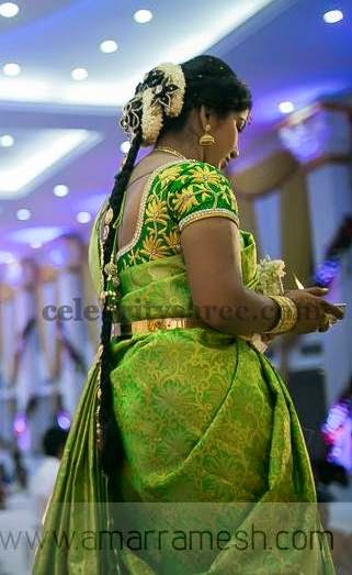 Green Floral Work Bridal Blouse