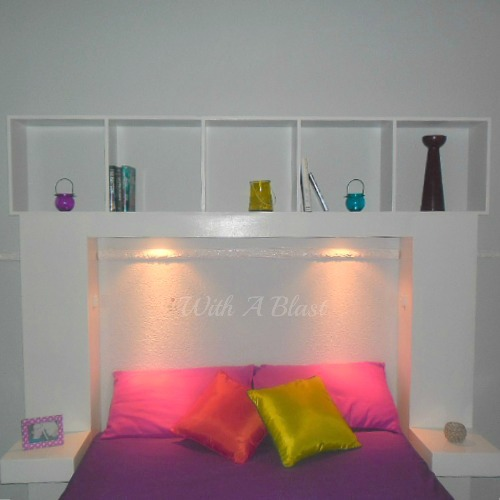 DIY Headboard with Built-In Lights