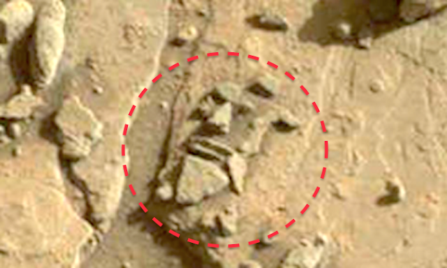 Ufo sightings daily alien made stone carving of face