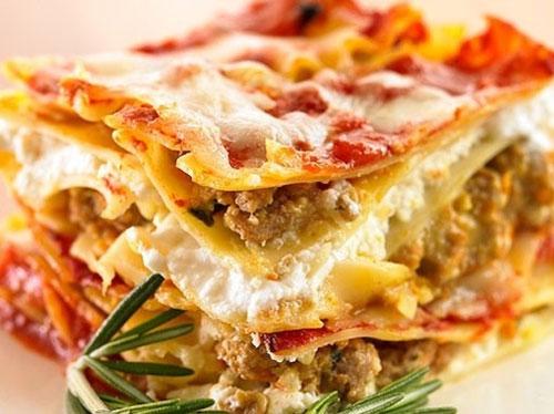 macaroni طريقة عمل لازانيا خفيفة للرجيم بلحم التركي والخضار