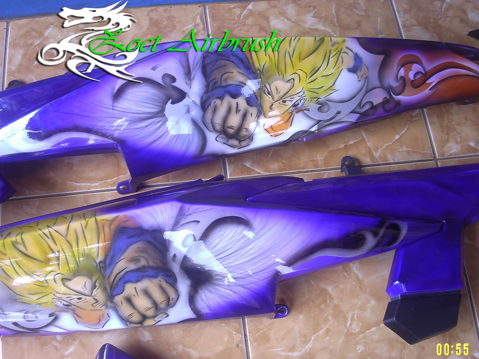 Modifikasi Jupiter MX 2011 Airbrush Dragon Ballz title=