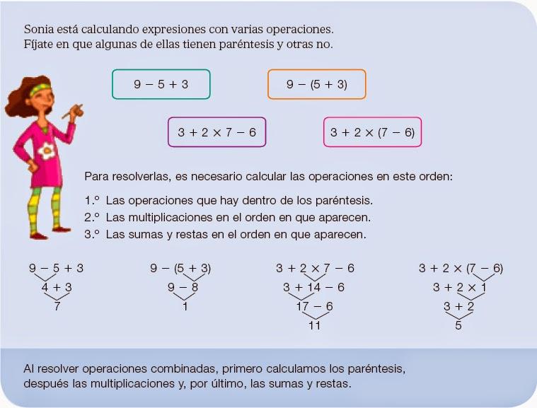 MATEMÁTICAS de 5º y 6º de Ed. Primaria: Operaciones combinadas