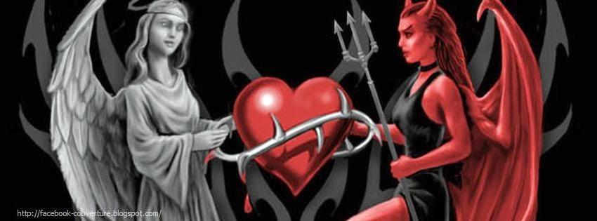 Une image de couverture facebook ange et demon