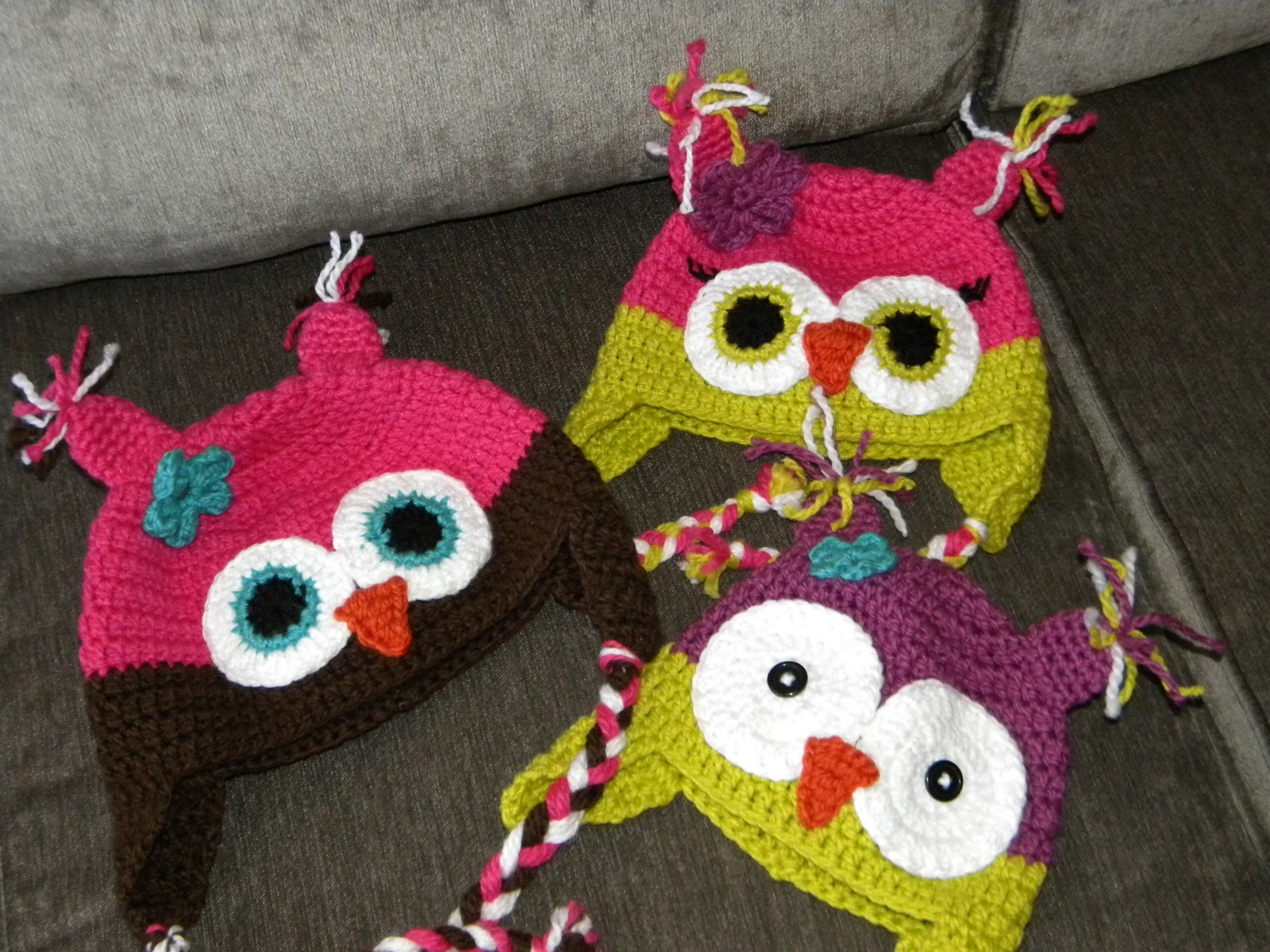 Crochet Pattern For Newborn Owl Hat : Knotty Knotty Crochet: Hoot Hoot! Owl hat FREE PATTERN!!