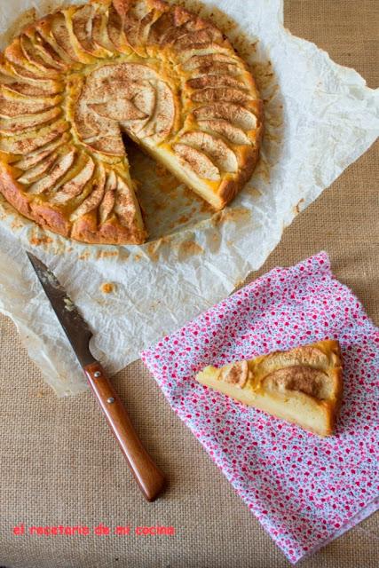pastel de compota de manzana