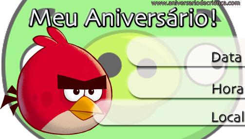 Convites De Anivers  Rio Dos Angry Birds Para Imprimir