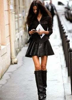 Черная Атласная Блузка