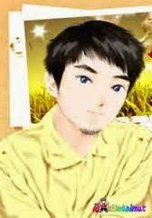 gambar Kartun manga Muslim putih
