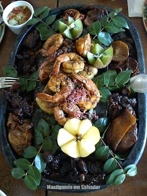 Restaurante Paraíso Tropical: prato Camarão, Polvo e Peixe