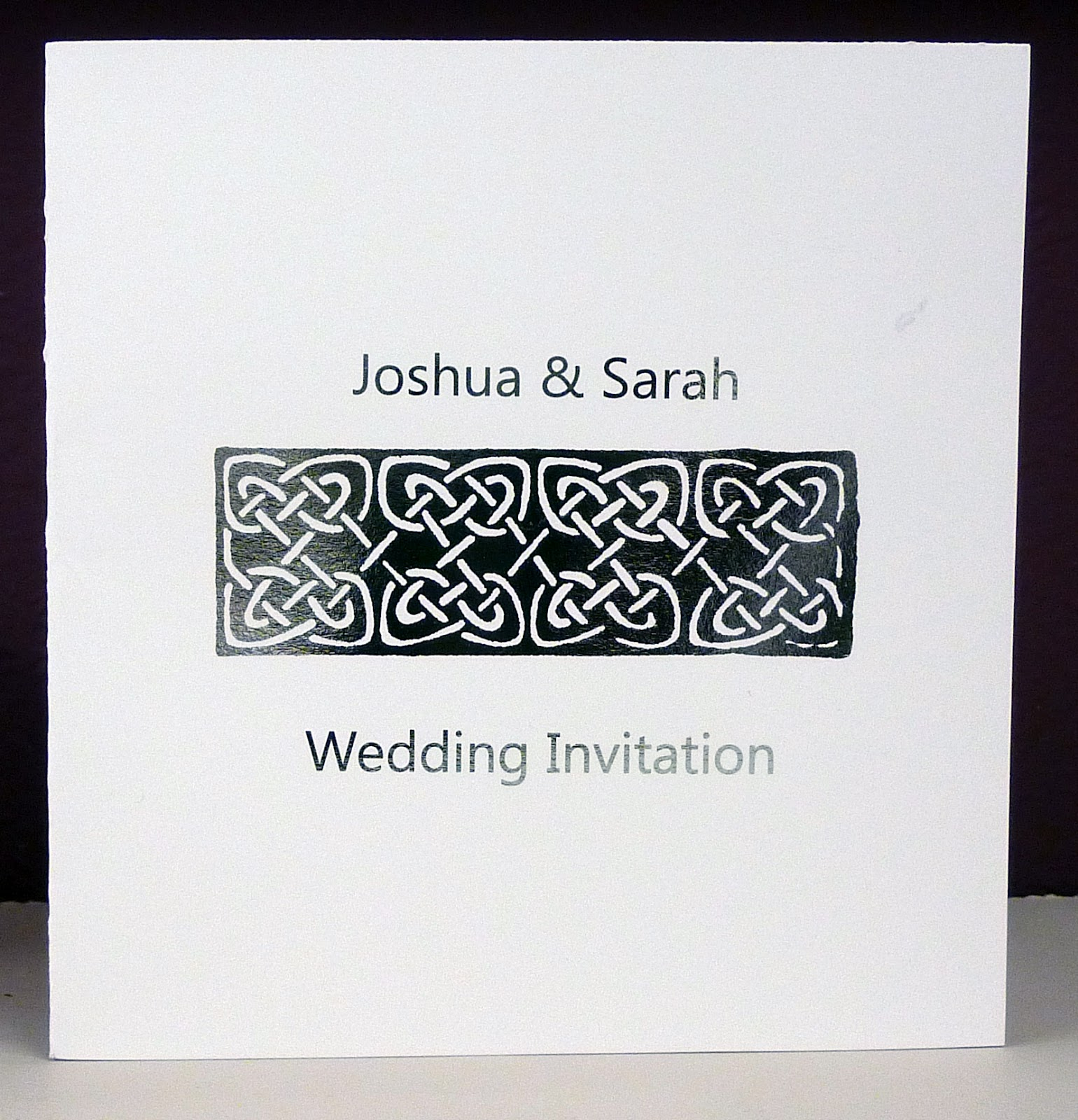 Inspired by Script: 4 New Wedding Stationery Designs - Celtic and ...