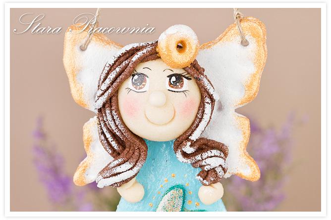 salt dough craft, salt dough angel, anioł z masy solnej