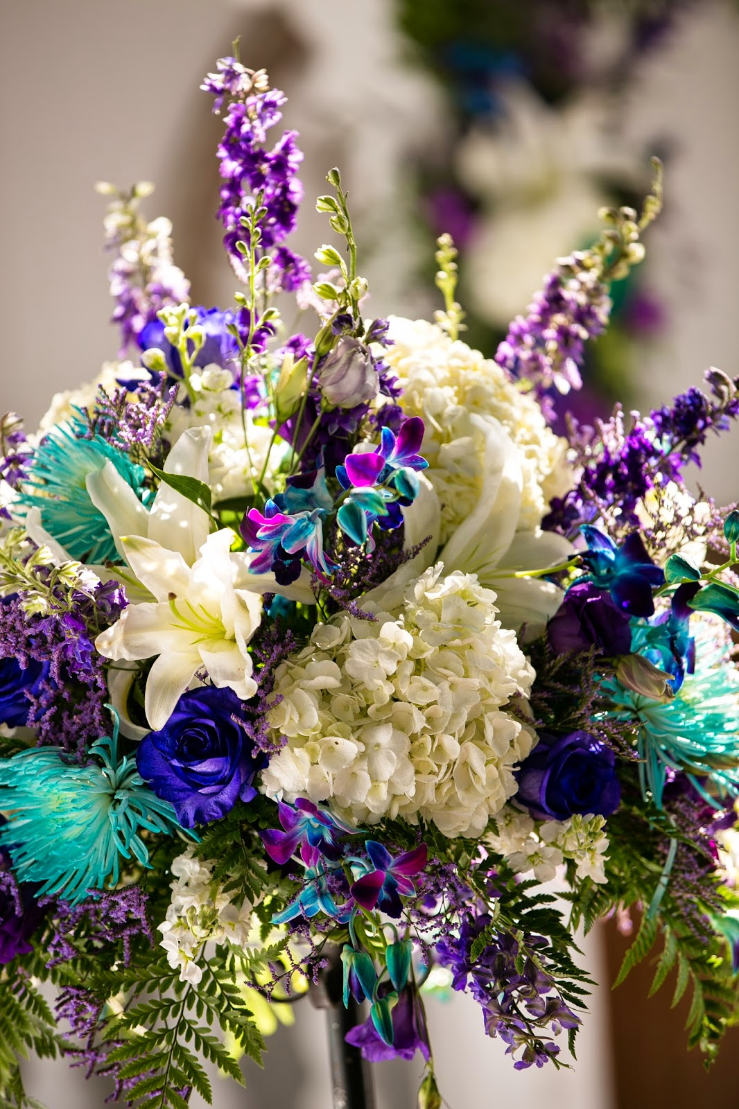 Color combinations blue and purple mfg floral designs and events there are tons of color combinations that you wouldnt think of until you see them together like these purples and blues you cant help but feel the izmirmasajfo