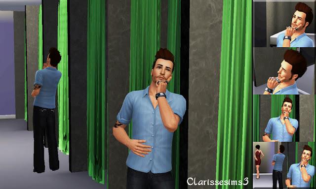 Clarisse sims3 custom male poses