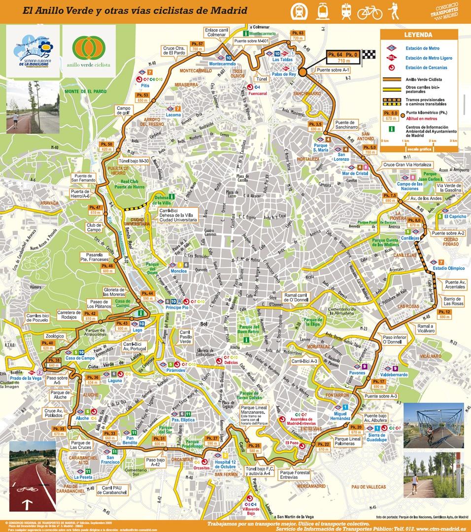 Junio 2015 naturaleza sobre ruedas - Anillo verde ciclista madrid mapa ...