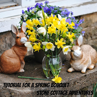 tutorial for spring flowers bouquet