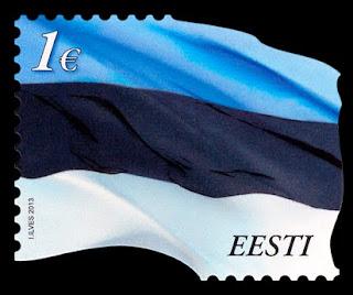 Estonia:  Estonian Flag  - www.post.ee