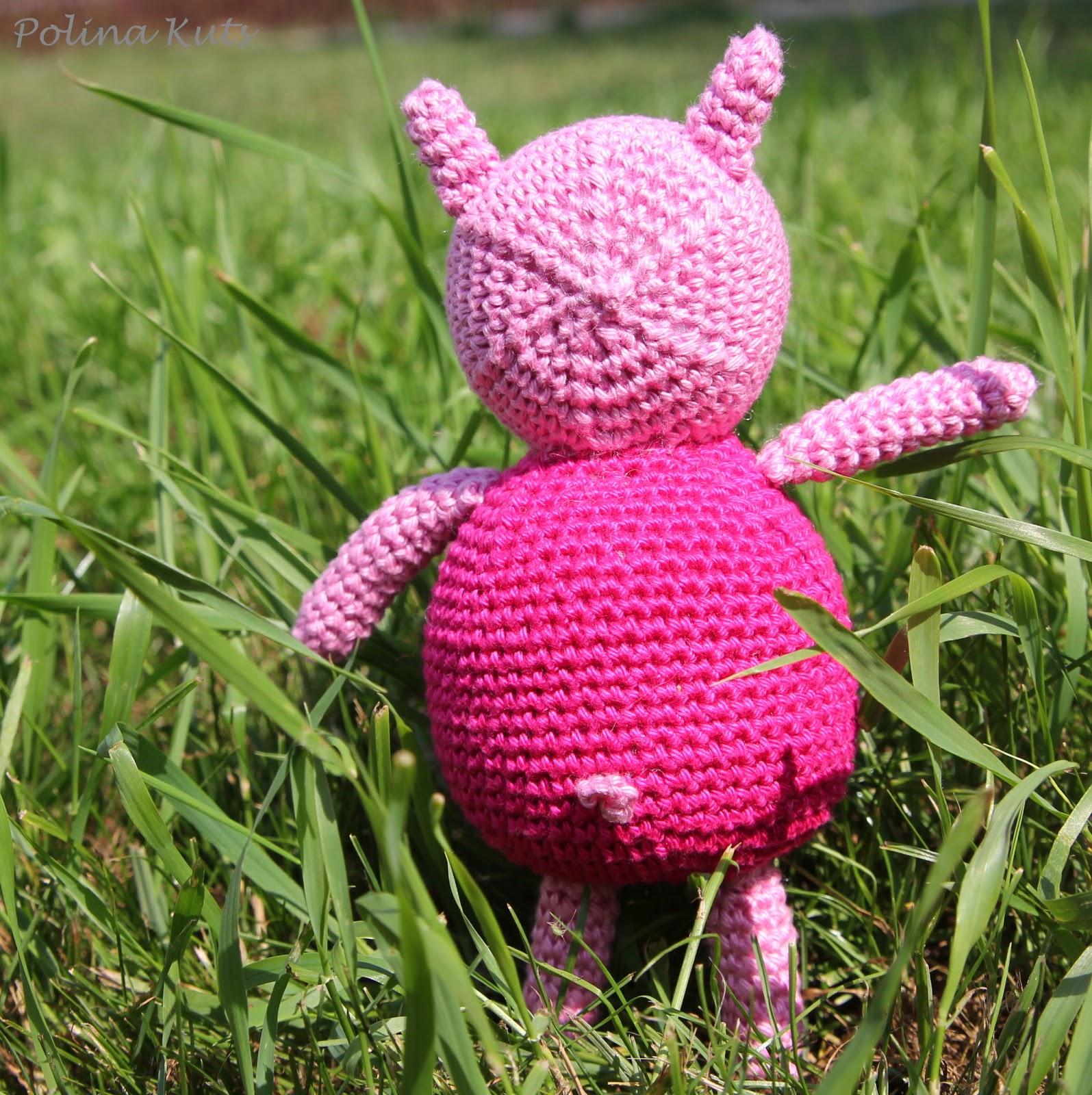 Вязанные игрушки свинка пеппа 180