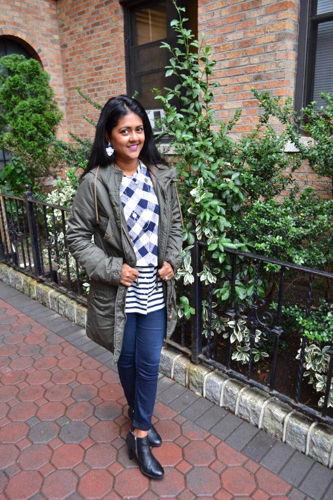 Astoria Heels H&M Parka, Zara sweater
